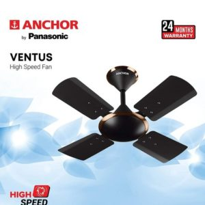 Black Anchor High Speed Ceiling Fan with 4 Blades