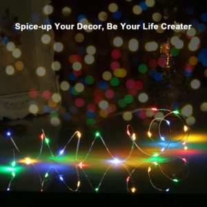 Fairy Lights Battery Operated Waterproof String Lights for Bedroom (Multicolor) -Balloonistics-Home & Decor-Bangalore